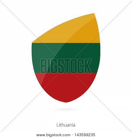 Flag Of Lithuania. Lithuanian Rugby Flag.