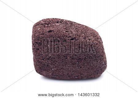 Brown Pumice On A White Background