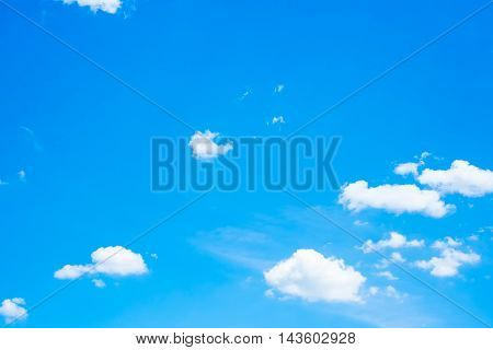 Cleat Blue Sky With Cloud, Nature Background