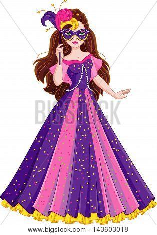 Image Princess dress for masquerade, EPS 8