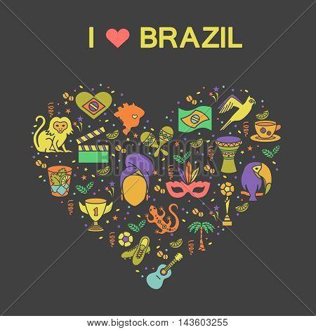 Brazilian thematic print 2. Vector illustration EPS 10