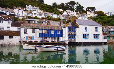 British village Polperro on the cornish coast
