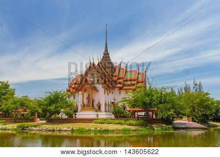 The Dusit Maha Prasat in the Ancient Siam