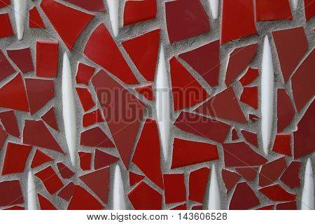 Abstract detail glass ceramic mosaics art background.