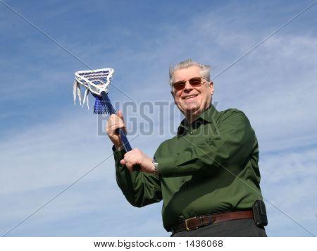 Senior Man Playing Lacrosse!
