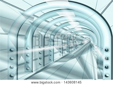tunnel. Abstract futuristic speed tunnel. 10 EPS