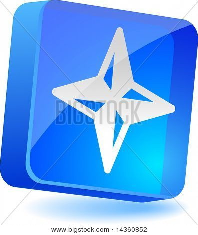 Navigation 3d icon. Vector illustration.