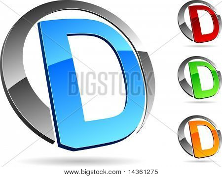 "Letter ""D""  3d vector icons such logos."