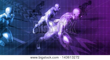 Business Startup Company Ready to Compete Presentation Background 3D Illustration Render