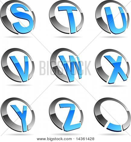 Letter company symbols. Vector illustration.