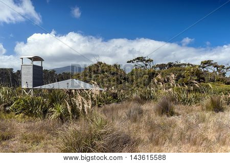 Observatory Tower At Tauparikaka Marine Reserve, Haast, New Zealand