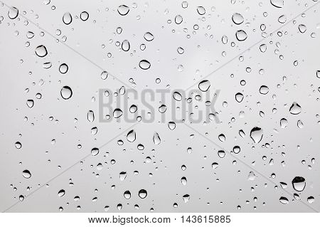 Raindrops On A Dusty Glass.