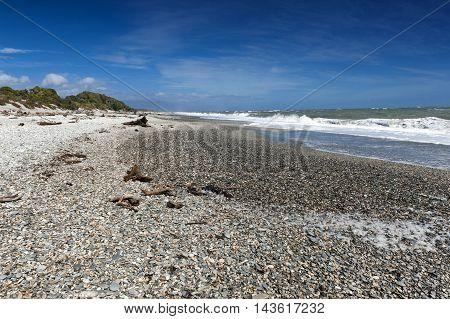 Pebble Beach Of Tauparikaka Marine Reserve, Haast, New Zealand