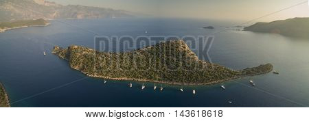 Gemiler Island (island of St. Nicholas in Turkey) is known for the Roman (later - Byzantine) settlement on the St. Nicholas island that at one time was one of the centers of Christianity