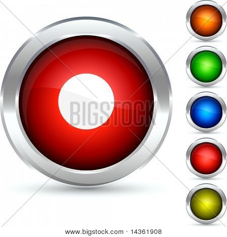 rec detailed button. Vector illustration.