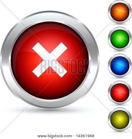 Del botón detallado. Ilustración del vector.