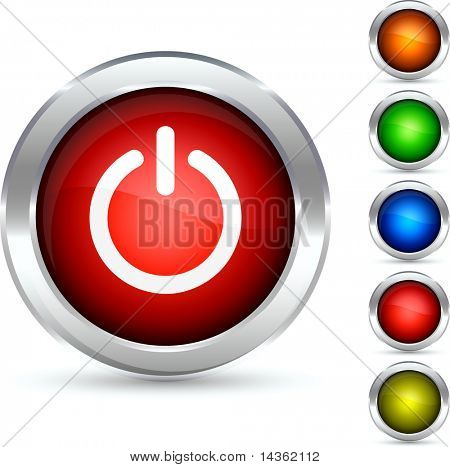 Switch detailed button. Vector illustration.