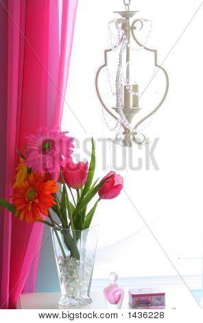 Flower Vase In A Window