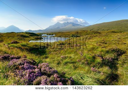The Cuillin Mountains On The Isle Of Skye