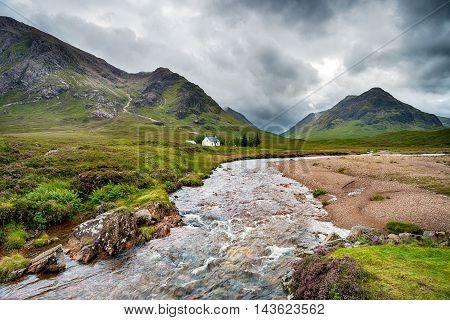 The River Coupall In The Scottish Highlands