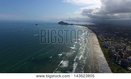 Aerial View Riviera De Sao Lourenco Beach (riviera's Beach - St. Lawrence) - Sao Paulo - Brazil
