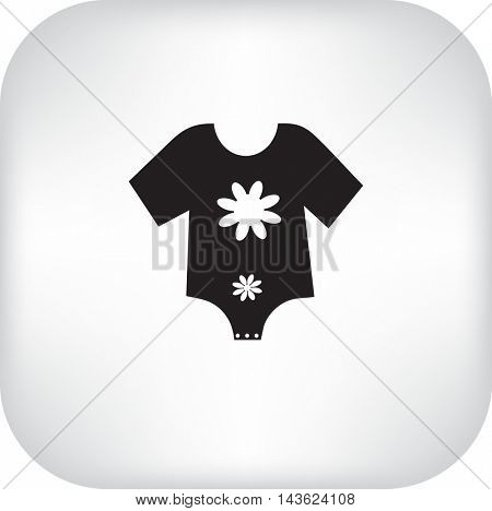 Flat icon. Baby clothes.