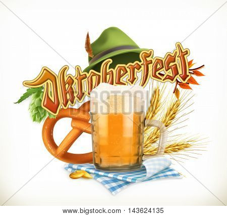 Munich Beer Festival Oktoberfest, the vector can also be used by any beer manufacturers.