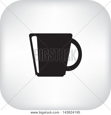 Flat icon. A cup.