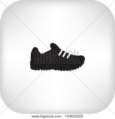 Flat icon. Sneaker.