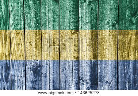 Flag On Weathered Wood