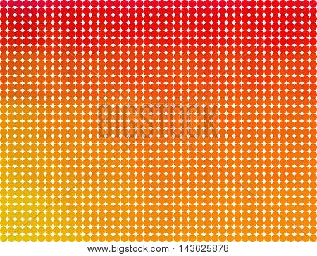 Red yellow and orange dots on white background. Abstract multicolor background with color dots.