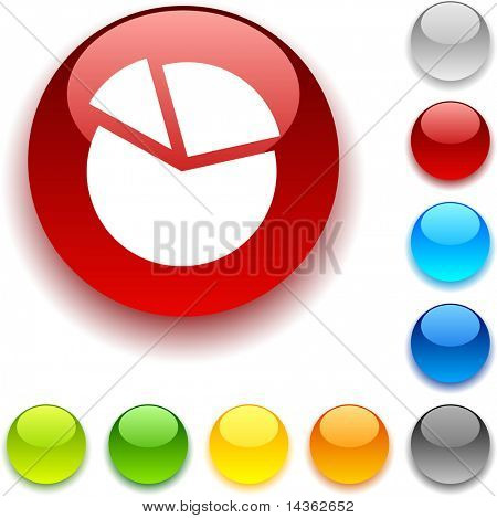 diagramh  shiny button. Vector illustration.