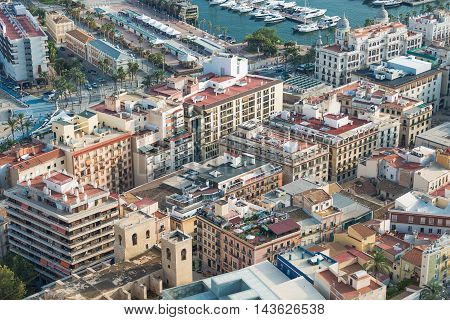 View of the city of Alicante, Spain