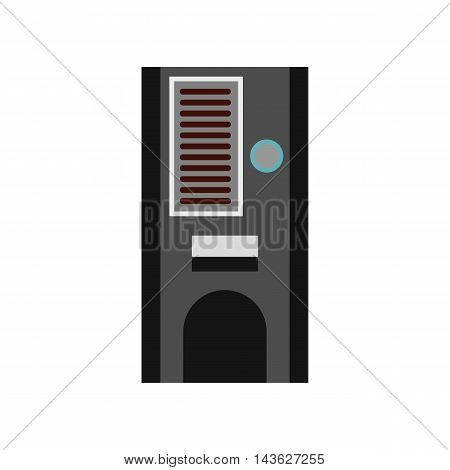 Coffee vending machine icon in flat style on a white background