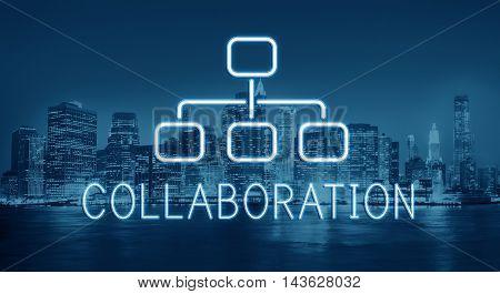 Collaboration Organization Chart Business Company Concept