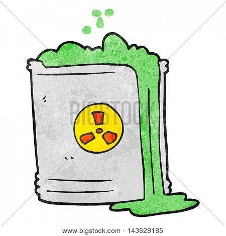 freehand textured cartoon radioactive waste