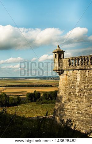 An ancient castle in Ukraine. Scenic views of the castle middle of a wonderful sunny day