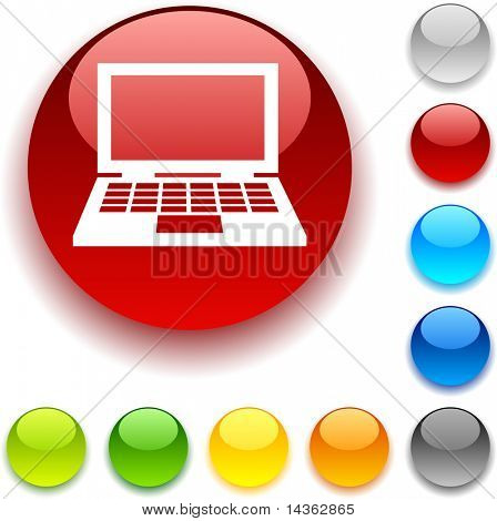 Notebook shiny button. Vector illustration.