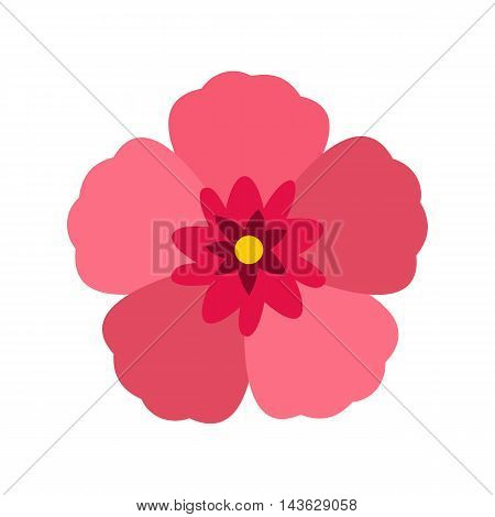 Rose of Sharon icon in flat style on a white background