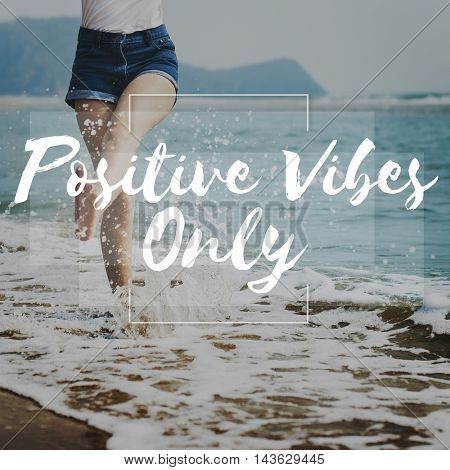 Positive Vibes Attitude Choice Happiness Mindset Concept