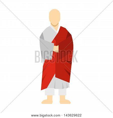 Korean monk icon in flat style on a white background