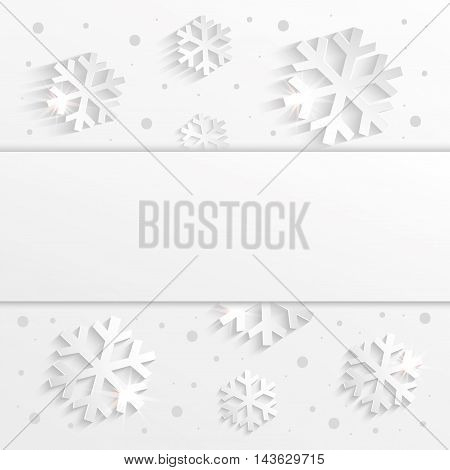 christmas snowflake congratulations background white raster blank template