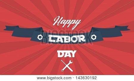 American labor day vector background. Background for US holidays.