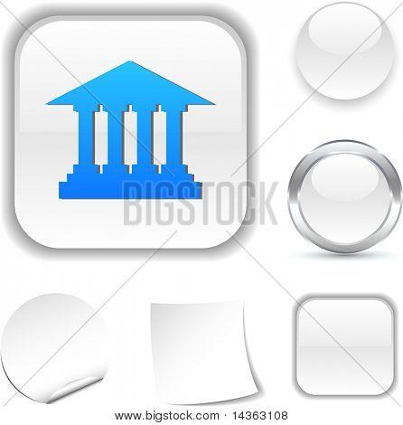 Exchange  white icon. Vector illustration.