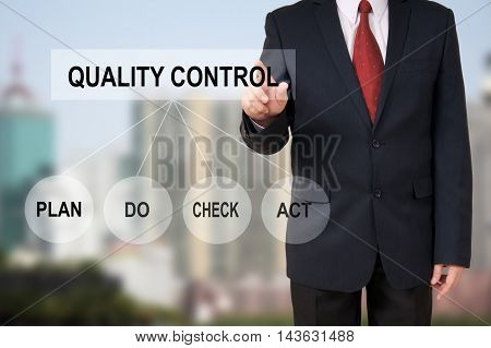 Business Man Show Hand Point