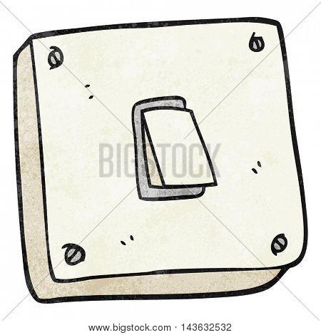 freehand textured cartoon light switch