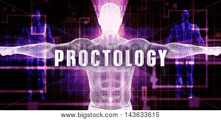 Proctology as a Digital Technology Medical Concept Art 3D Illustration Render