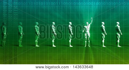 Science Discovery and Healthcare Goals Through Technology 3D Illustration Render