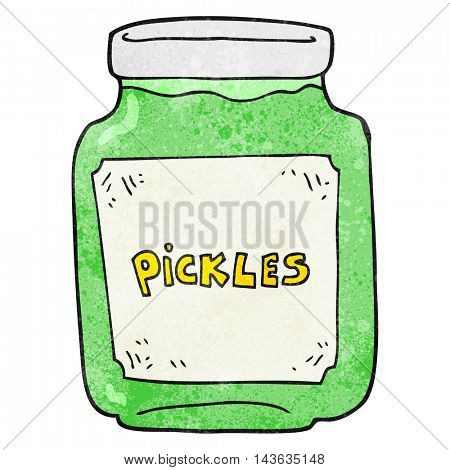 freehand textured cartoon pickle jar