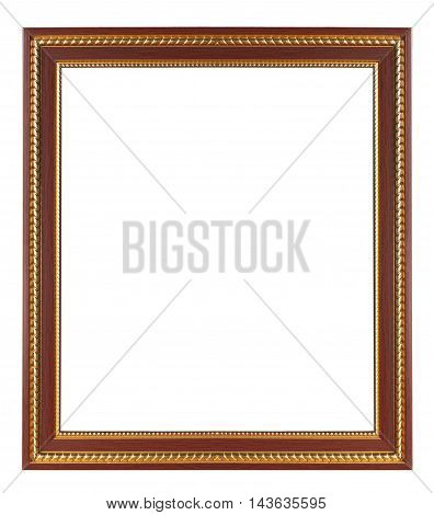 The vintage frame Isolated on white background